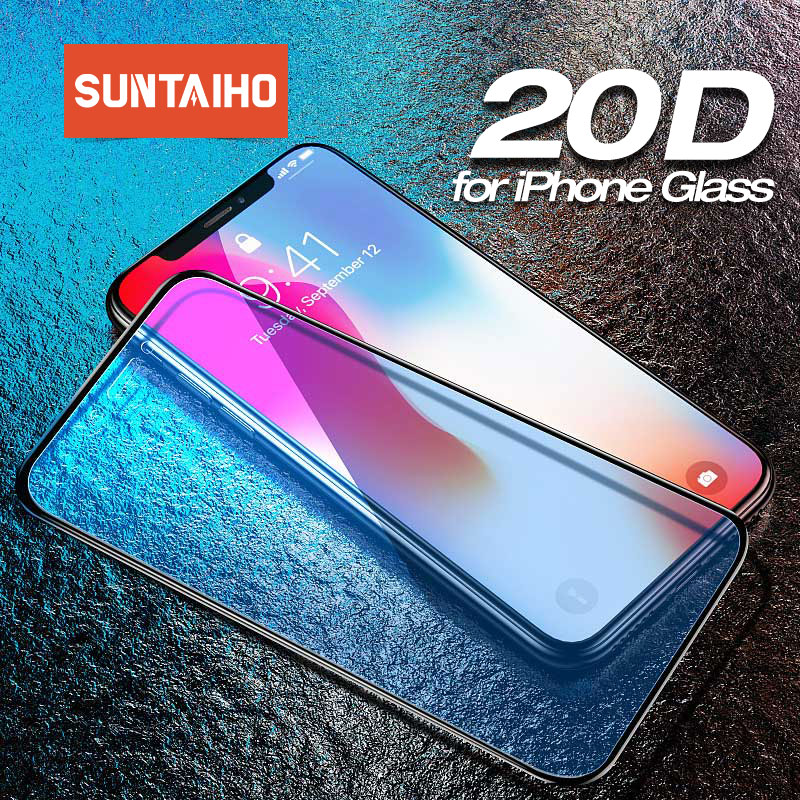 20D Protective Glass For IPhone 11 Pro XS Max Tempered Glass For IPhone X XR 8 7 6 6s Plus Screen Protector For IPhone 11 Glass
