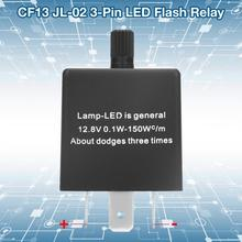 12.8V 3-Pin Adjustable Frequency LED Flasher Relay CF13 JL-02 Turn Signal Light Hyper Flash Fix latching relay professional universal chrome 12v car flasher relay fix led light street turn signal switch with flasher hyper flash car styling