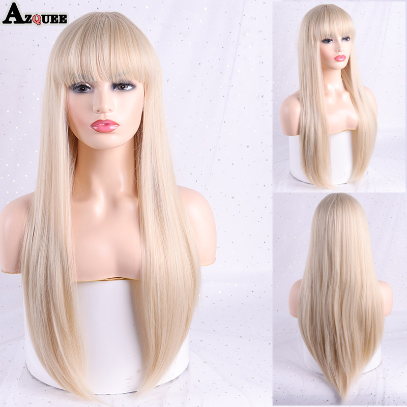 azqueen perucas sinteticas longa reta marrom loira 04