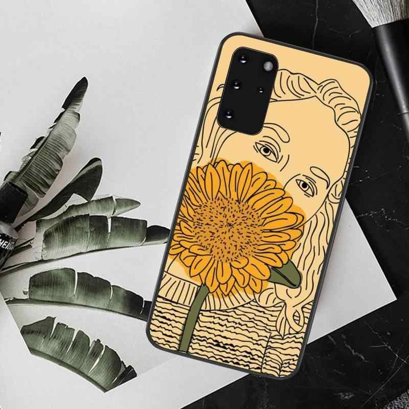 NBDRUICAI الصيف ديزي عباد الشمس الأزهار Flo سيليكون غطاء هاتف من البولي يوريثان لسامسونج S20 زائد الترا S6 S7 حافة S8 S9 زائد S10 5G