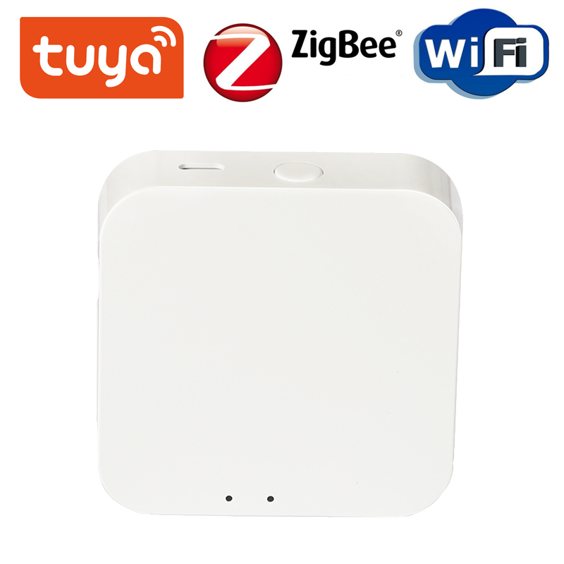 Wireless Tuya ZigBee Gateway Hub Smart Home Device Support Add APP Gateway Smart Light Control ZigBee 3.0 Remote Controller