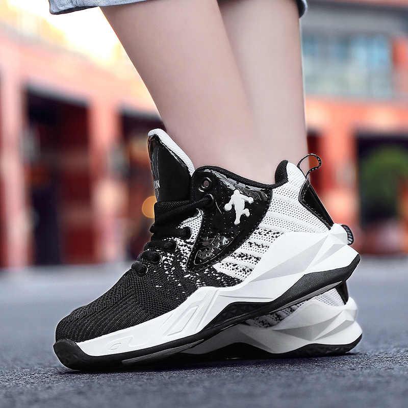 新しい高トップジョーダンバスケットボールシューズクッションジョーダン靴子供バスケットボールスポーツ靴ティーンエイジャートレーニングブーツ