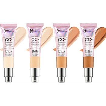 It cosmetics-Corrector facial CC + crema iluminadora SPF 50, cobertura completa, medio...