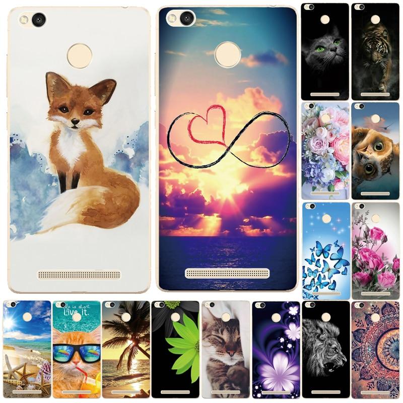 Phone Cases For Xiaomi Redmi 3 Pro 3s Redmi 3s Cover Silicon Phone Back Cover for Xiaomi Redmi 3 Pro Case Redmi 3 S Pro Case