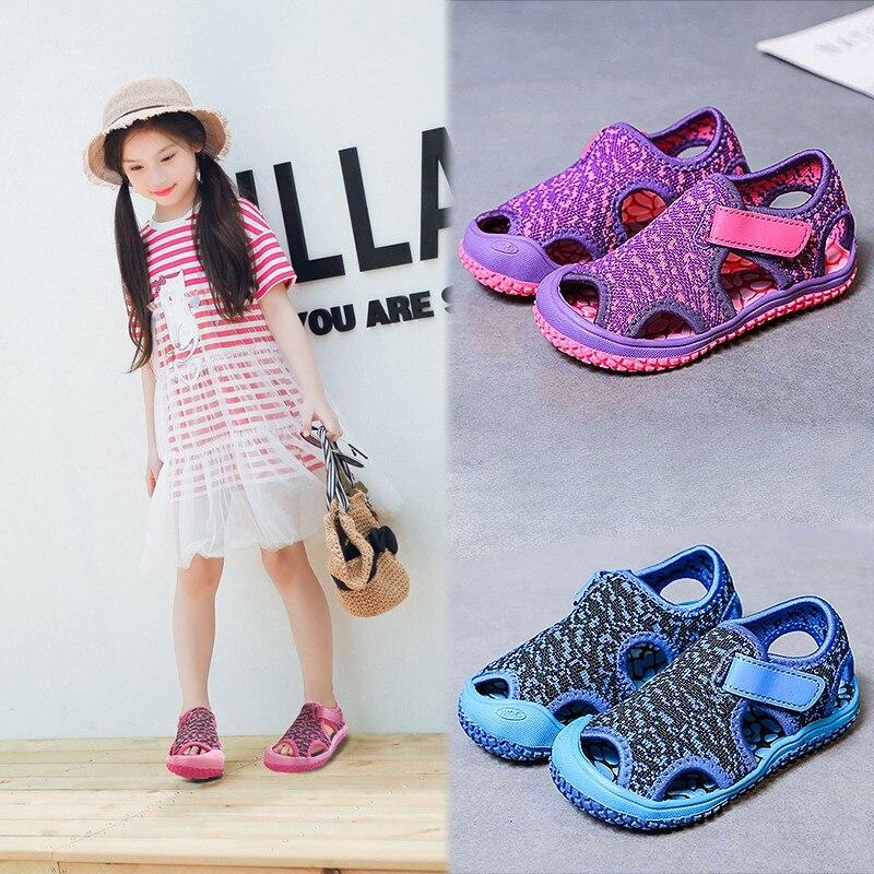 2020 Summer Baby Girls Boys Sandals Children Beach Sandals Soft Bottom Non-slip Infant Shoes Kids Outdoor Anti-collision Shoes