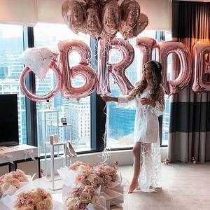 Rose Gold Bride to be Letter Foil Balloon Wedding Bridal Shower Engagement Hen Party Decor Bachelorette Party Supplies