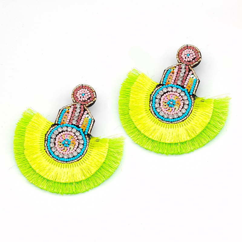 Sehuoran Statement Earrings Tassel Boho Ethnic 2019 Hot Colorful Dangle Drop Earrings Beads INS Trendy Wedding Jewelry