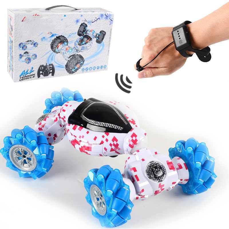 1:12 RC Mobil Gesture Penginderaan Off-Road Mobil Remote Control Mobil Stunt dengan Musik Ringan Drift Menari Dua Sisi mengemudi Kendaraan