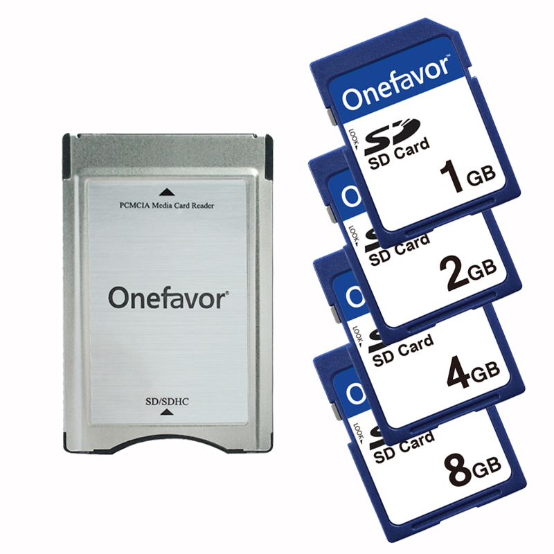Onefavor SD TO PCMCIA Card adapter PCMCIA card reader With SD Card 1GB 2GB 4GB 8GB for Mercedes Benz MP3|Memory Cards| |  - title=