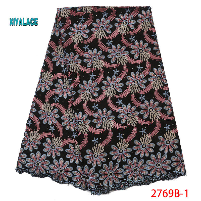 2019 Best Selling Swiss Voile Laces African Fabric Nigerian French Fabric High Quality Nigeria Tulle Cord Lace Fabric YA2769B-1