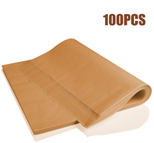100PCS/Lot Parchment Baking Paper, 30X40cm Non-Stick Pre-Cut Suitable for Baking BBQ Air-Based Fryer Steamed Bread Cake Biscuits air fryer electric fryer accessory non stick baking dish roasting tin tray for philips hd9232 hd9233 hd9220 hd9627 hd9621