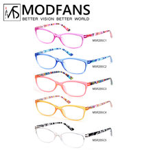 MODFANS Reading Glasses Women, Cat Eye Round Square Stylish Readers and Rich Colors for Choose, Magnification Strength+1.0+4.0