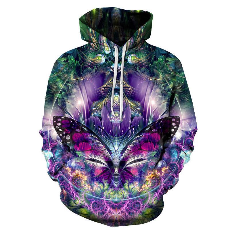 2019 New men 3D Hoodie Sweatshirt Fashion 3D Printed Psychedelic Mandala Chakra Autumn Winter Sportswear Casual Pullover