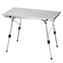 K-STAR odkryty składany stół krzesło Camping stół piknikowy ze stopu Aluminium wodoodporny trwały składany stół biurko dla 90*53*69cm
