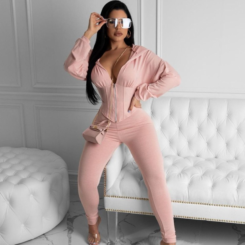 Two Piece Women's Sets 2020 Tracksuit Women Festival Clothing Fall Winter Top+Pant Suits 2 Piece Club Outfits Matching Sets