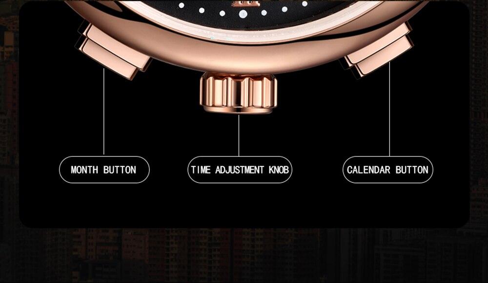 grande dial data tourbillon pulseira de couro