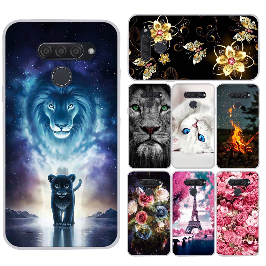 Soft TPU Cases For LG Q60 Case Luxury TPU Soft Silicone Cute Phone Back Cover for LG K50 Q 60 Case Full Protective Bumper Coque