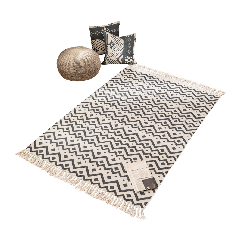 Nordic Bohemian Large Carpet Area Rugs Hand Woven Carpet Runner Decoration Home Floor Mats Carpets For Living Room Rugs Large