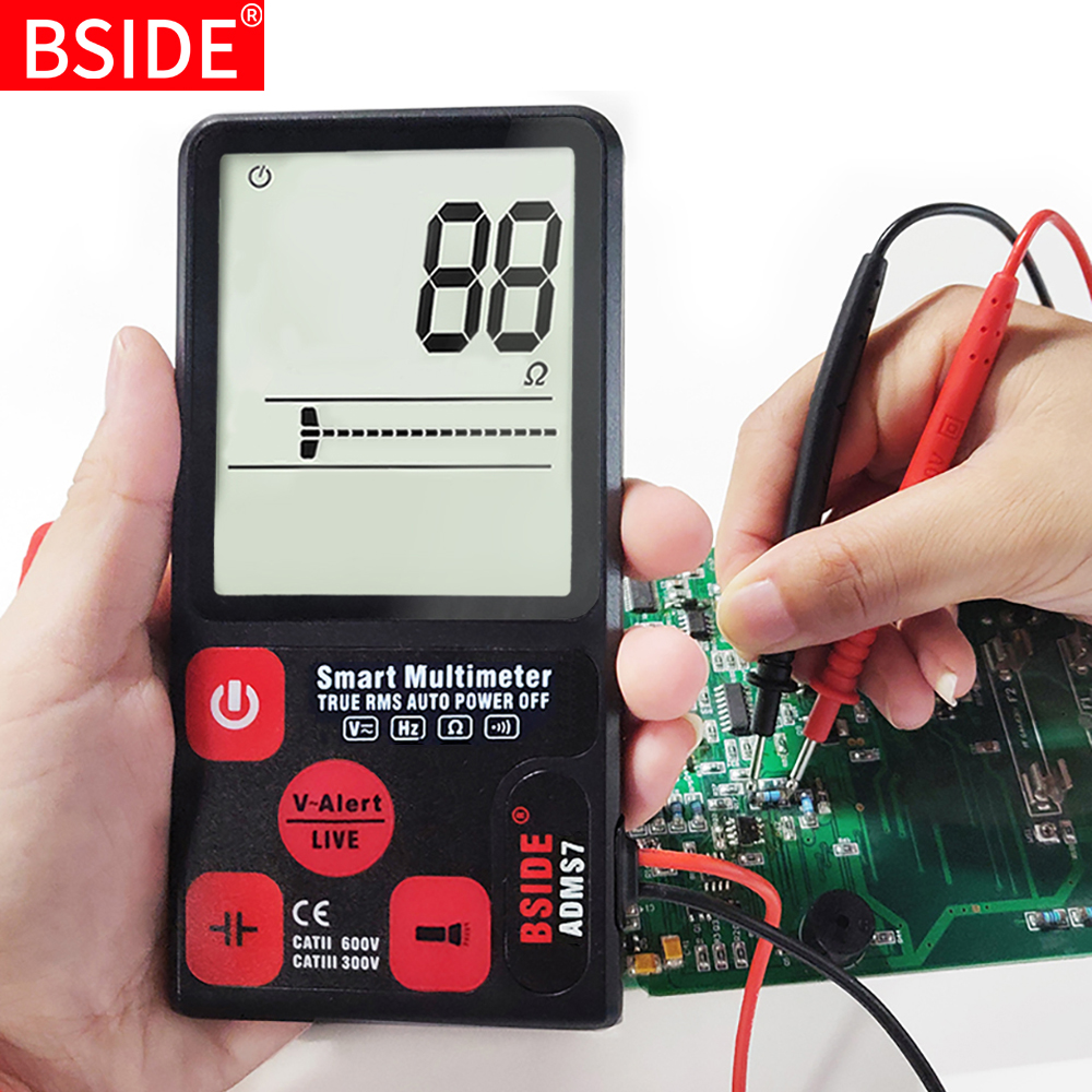 New Mini Digital Multimeter BSIDE ADMS9 S7 Tester Voltmeter  Resistance NCV  Continuity Test With