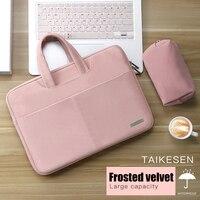Laptop Tasche 13,3 15,6 14 zoll Wasserdichte Notebook Tasche Für Macbook Fall M1 Air Pro 13 15 Huawei Schulter handtasche Aktentasche