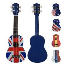 National Flag color decal pattern 21 inch soprano aiersi ukulele 4 string ukelele USA UK Australia Russia Spain Hawaiian guitar гитара oem 21 ukelele 4 21 ukulele page 9