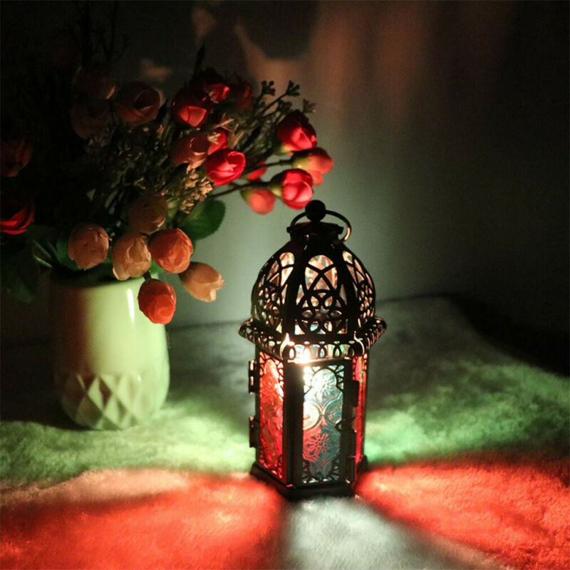 Moorish candle holder-Red