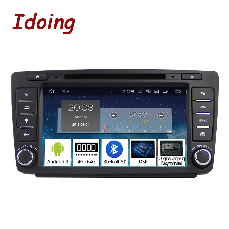 Idoing Android 9.0 4G+64G 8Core 2Din Steering Wheel For Skoda Octavia 2 Car Multimedia DVD Player 1080P HDP GPS+Glonass 2 din-in Car Multimedia Player from Automobiles & Motorcycles