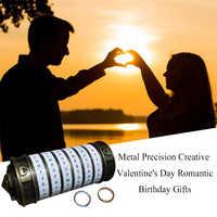 Retro da vinci código de bloqueio letra senha escapar câmara adereços metal cryptex fechaduras para aniversário casamento presentes do dia dos namorados novo