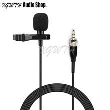 Condenser Lavalier Microphone Lapel Unidirectional Cardioid Mic for Sennheiser Wireless BodyPack Transmitter 3.5 mm Lockable