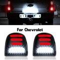 2 шт. красный, белый для Chevrolet Silverado Лавина траверс Tahoe светодиодный автомобиля номерной знак светильник лампа сборка авто