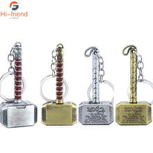 The Avengers Alliance Thor Hammer Keychain High Quality Thor Axe Hammer Charms Pendant Movie Fans Car Keyring Jewelry 29cm thor s hammer toys new avengers super heroes thor hammer cosplay toy plastic hammer action figures for kids christmas gifts