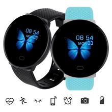 Gorący nowy inteligentny zegarek mężczyźni kobiety automatyczny cyfrowy zegarek okrągły Bluetooth inteligentny zegar wodoodporny Sport Tracker dla androida Ios tanie tanio vaiquela Z tworzywa sztucznego 3Bar Klamra 10mm Hardlex 24cm Papier 35mm Silikon ROUND Odporny na wstrząsy Wyświetlacz LED