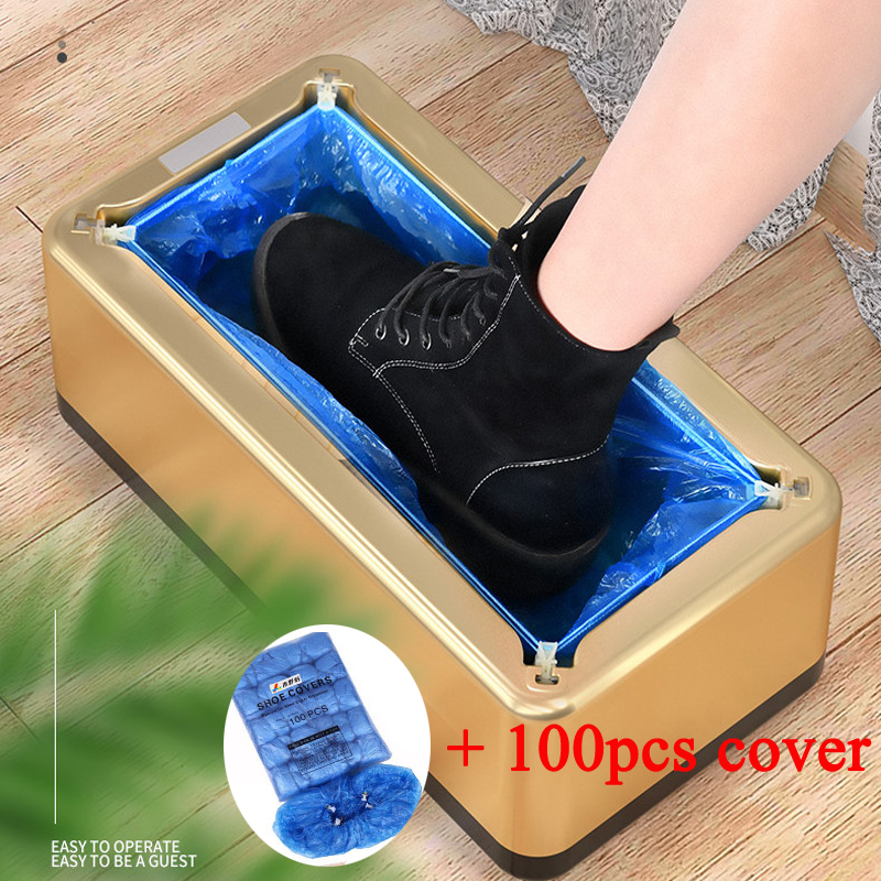 Automatic Household Shoe Cover Machine With 100 Shoe Covers Many Colors Easy Installation Durable Household Hygiene Good Helper
