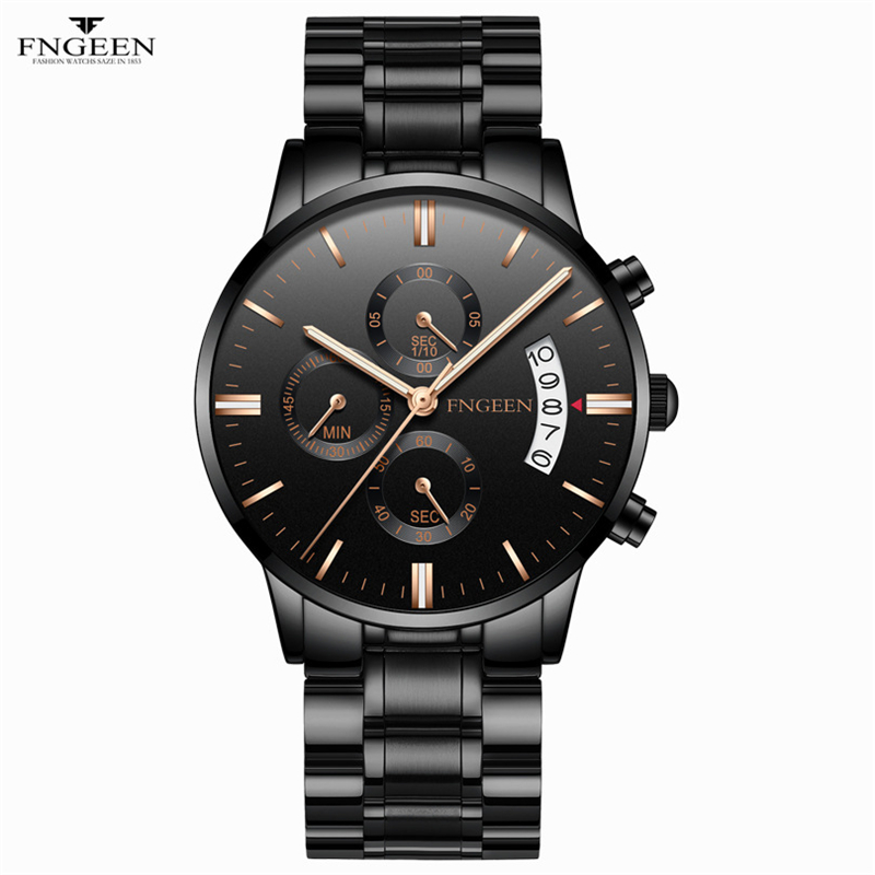 2019 Mens Fashion Quartz Watches Top Brand Luxury Male Clock Fashion Business Wrist Watch Date Hodinky Relogio Masculino <font><b>5055</b></font> image