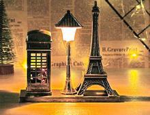 I0312 Retro paryż wieża lampa uliczna dekoracji 161 prezent dla studentów dekoracja stołu noc lekki rzemiosło tanie tanio JIAKMJ CN (pochodzenie) JIAKMJ work light 37 Suche baterii Nowość other HOLIDAY ROHS