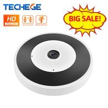 Techege 무선 VR IP 카메라 유선 960P 스마트 360 파노라마 CCTV 보안 카메라 1.3MP 와이파이 카메라 나이트 비전