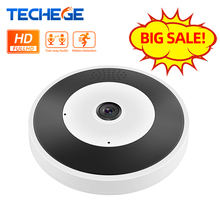 Techege VR inalámbrico cámara con cable IP 960P Smart panorámica de 360 grados cámara de seguridad CCTV 1.3MP wifi cámara de visión nocturna