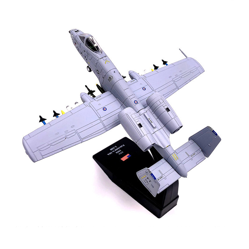 1:100 1/100 Scale US A-10 Thunderbolt II Warthog Hog Attack Plane Fighter Diecast Metal Airplane Aircraft Model Children Boy Toy image