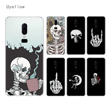 Uyellow Pirates Skull Silicone Soft Case For One Plus 7 Pro 6 6T 5 5T Fashion Fundas Printed Cover Luxury Phone Coque Shell Capa