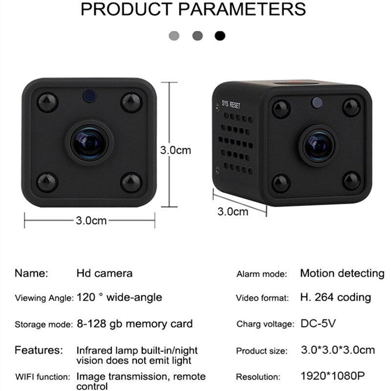 Микро 1080P HD камера 120 градусов широкий угол ночного видения Мини монитор спортивный детектор видео рекордер маленькая камера для Android IOS - 3