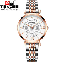TEVISE Luxury Watch Women Waterproof Ros
