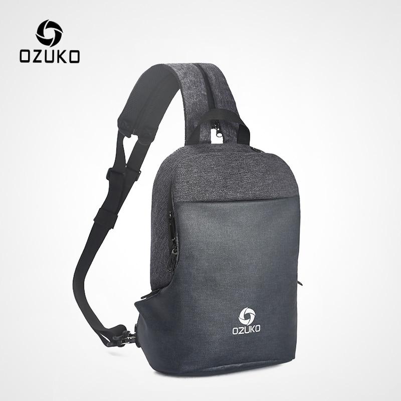 Sling Chest Bag Crossbody Shoulder Backpack Anti Theft Travel Bags Daypack Jian