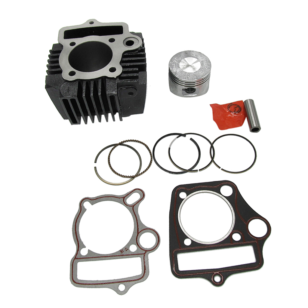 Kit de grand alésage de 52mm cylindre, Piston, segments de Piston, jeu de joints de Circlips 110cc