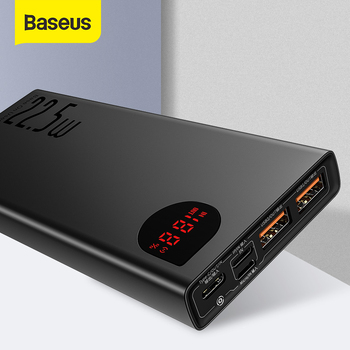 Baseus Power Bank 20000mAh Portable Battery Charger Powerbank 22.5W 5 Port Type C USB Fast Charger P