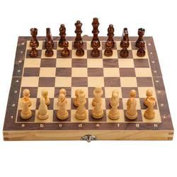Conjunto de xadrez de dobramento de madeira magnética felted tabuleiro de jogo 29cm * 29cm armazenamento interior adulto crianças jogo da família tabuleiro de xadrez
