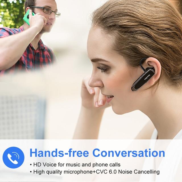 Nowe słuchawki Bluetooth Bee V5.0 słuchawki bezprzewodowe Mini bezobsługowy zestaw słuchawkowy 24 godziny rozmowy z mikrofonem auriculares na telefon
