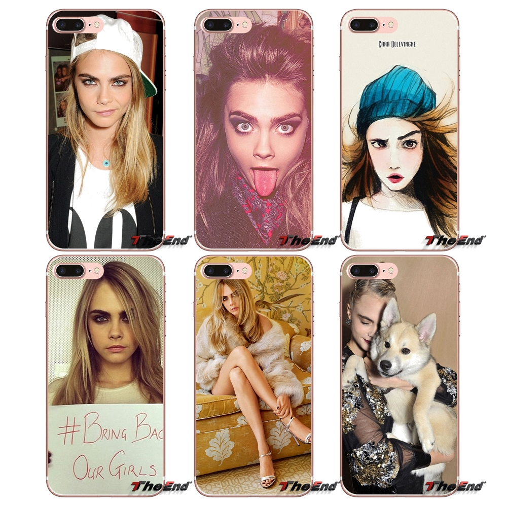 Cara Delevingne For Samsung Galaxy S3 S4 S5 MINI S6 S7 edge S8 S9 Plus Note 2 3 4 5 8 Transparent Soft Cases Covers