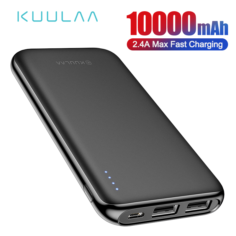 KUULAA Power Bank 10000 mAh Tragbare Lade Poverbank Dual USB Slim Externe Batterie ladegerät Für Xiao mi mi 8 9 iPhone 8 X XR