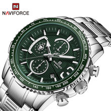 Naviforce часы мужские Роскошные Спортивные кварцевые наручные