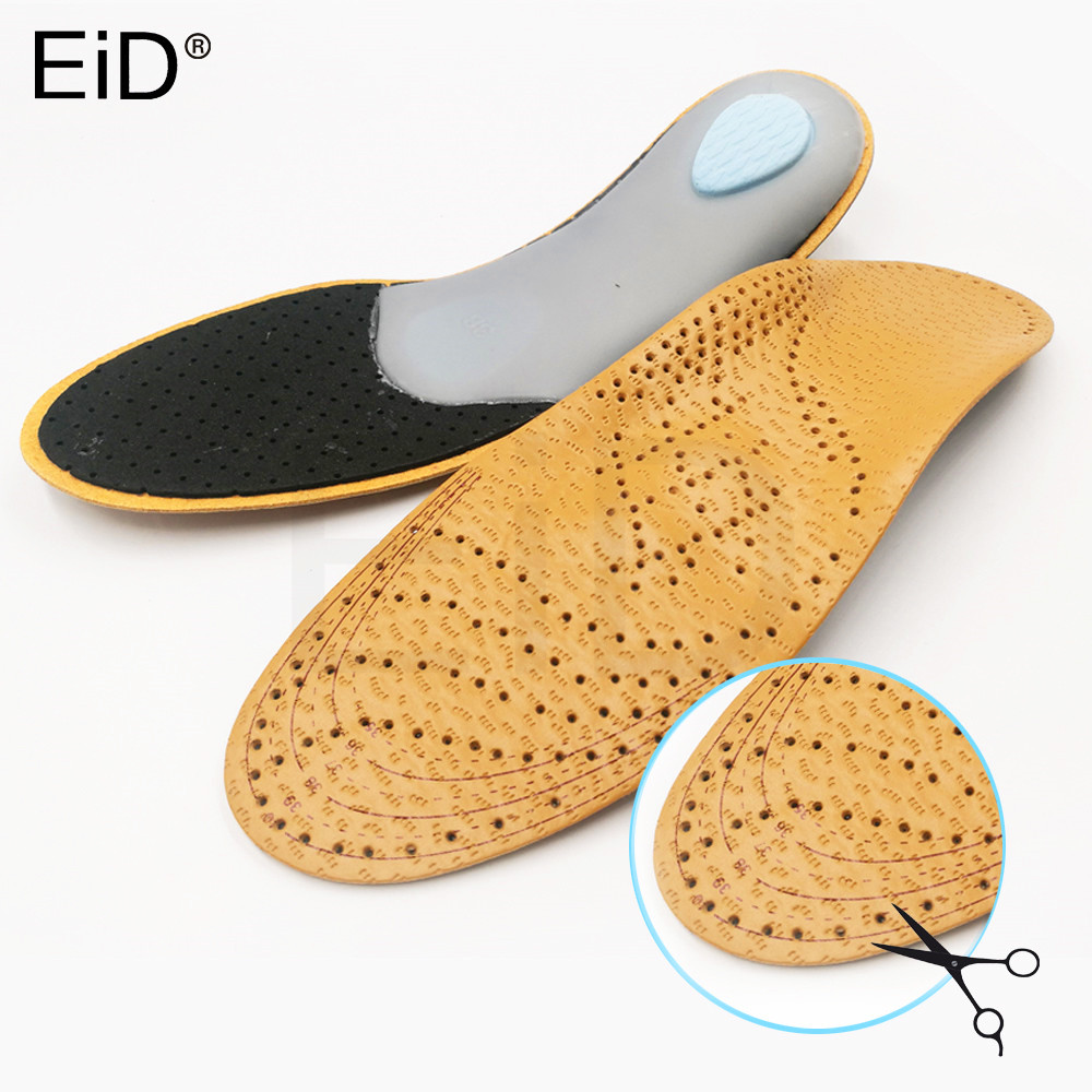 Plus Size Unisex Leather Orthotic Flat Foot Shoe Insoles High Arch Support Orthopedic Pad For Correction OX Leg Health Foot Care
